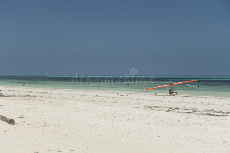 Zanzibar beach. Tropical beach in Kiwengwa Village on Zanzibar Island. Tanzania , Africa stock photos