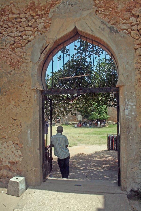 Zanzibar fortu brama fotografia stock