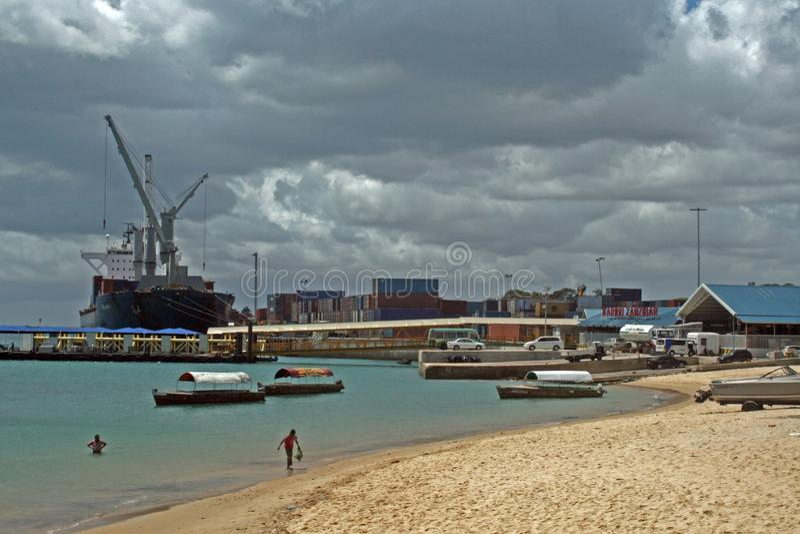 Zanzibar port arkivbild