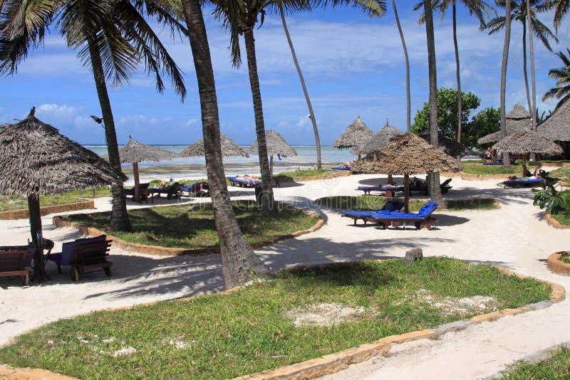 Zanzibar-Strandurlaubsort lizenzfreies stockbild