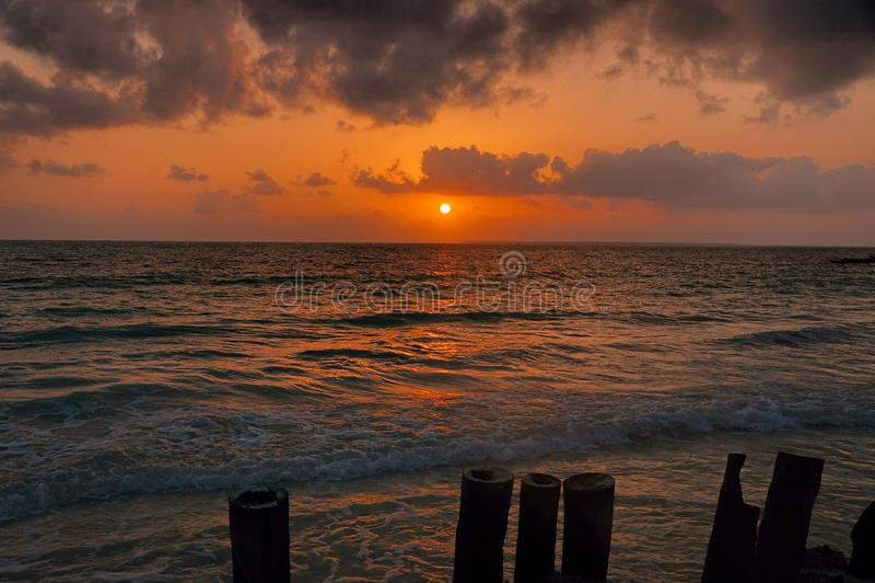 Zanzibar Sunrise royalty free stock photography