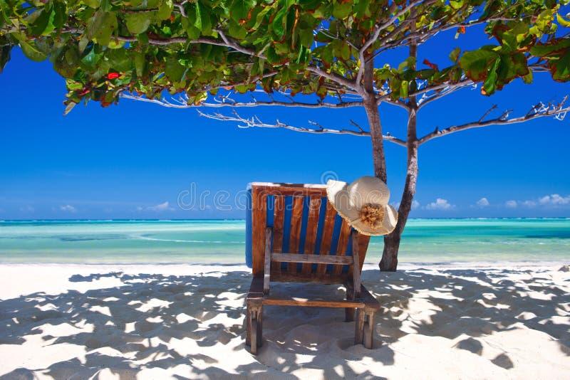Zanzibar tropical and beach chair at the beach