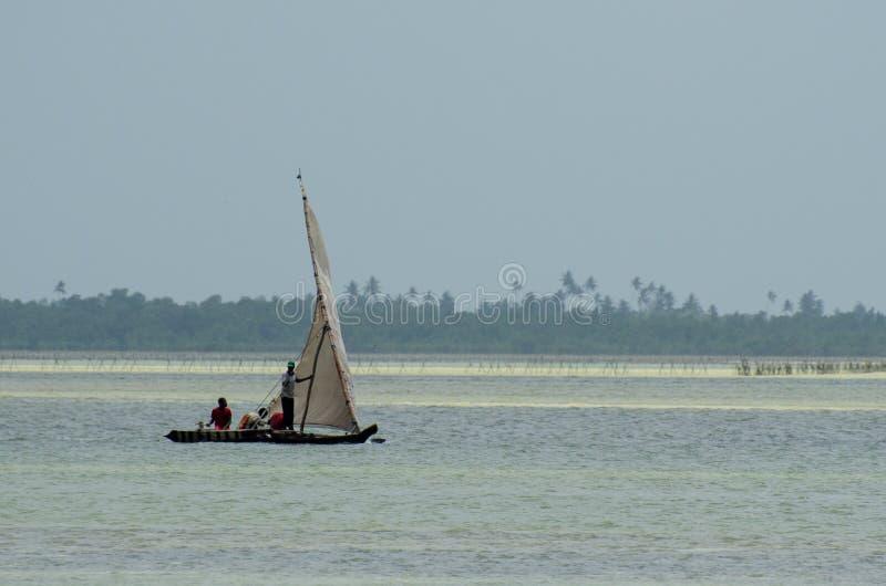 Zanzibars小船,桑给巴尔坦桑尼亚,2019年2月 免版税图库摄影