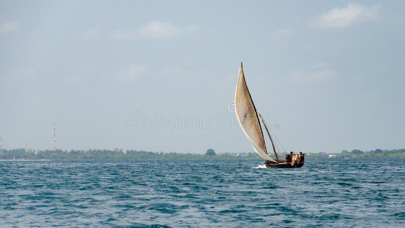 Zanzibars小船,桑给巴尔坦桑尼亚,2019年2月 免版税库存照片
