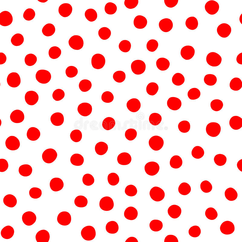 Zaokrągleni czerwień punkty Na białym tle abstrakta bezszwowy wzoru royalty ilustracja