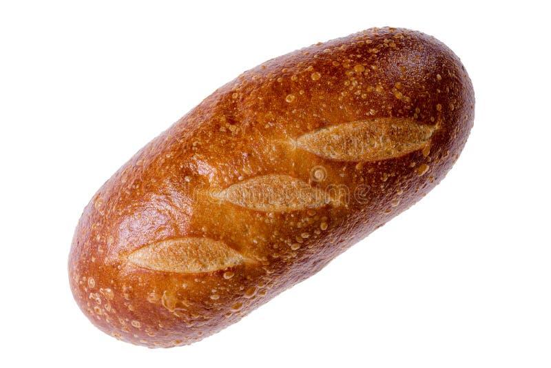 Zaokrąglony bochenek świeżo piec sourdough chleb fotografia stock