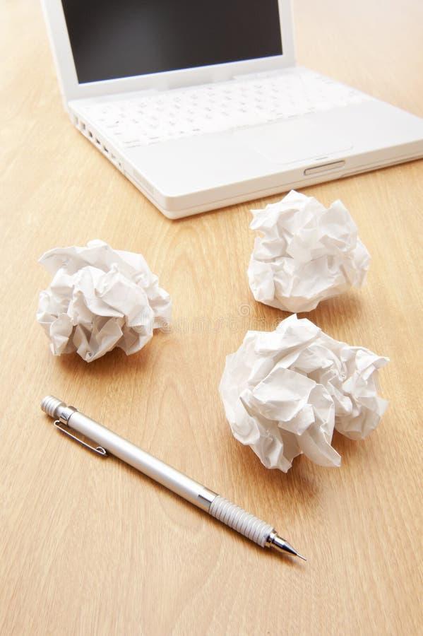 Zaokrąglony papieru i notatnika pecet fotografia royalty free