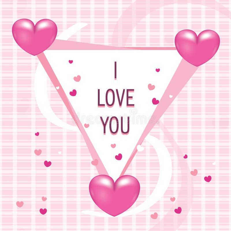 Zaokrąglony trójbok z miłość kształta odznaką obraz royalty free