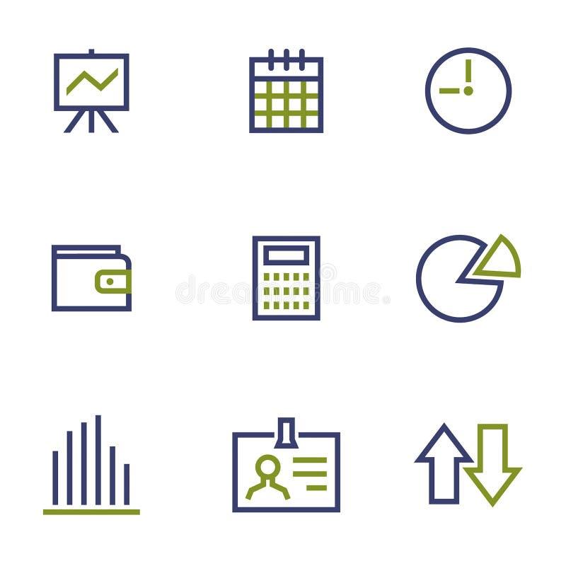 Zaopatruje symbol kreskową ikonę na bielu i wprowadzać na rynek royalty ilustracja