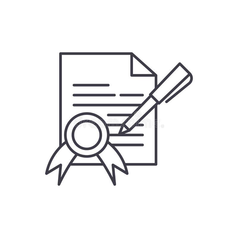 Zaopatrzeniowego kontrakta linii ikony pojęcie Zaopatrzeniowego kontrakta wektorowa liniowa ilustracja, symbol, znak ilustracja wektor