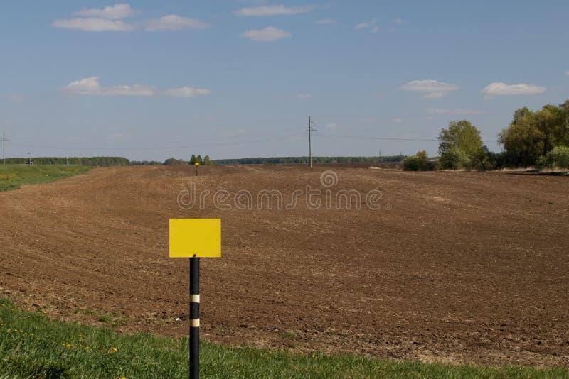 Zaorany rolniczy pole przygotowywał dla zasadzać uprawy w Syberia, Rosja obrazy stock