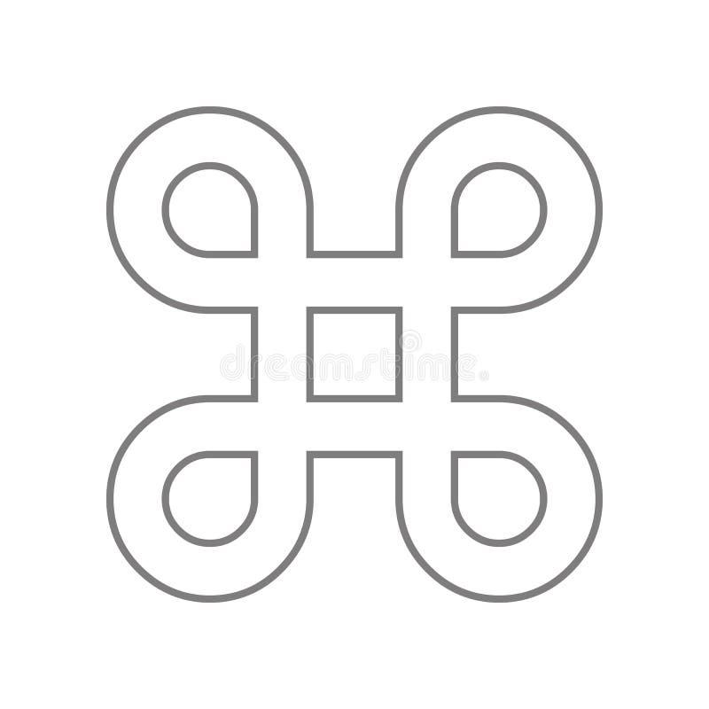 Zap?tlaj?ca kwadratowa ikona Element sie? dla mobilnego poj?cia i sieci apps ikony Kontur, cienka kreskowa ikona dla strona inter ilustracji