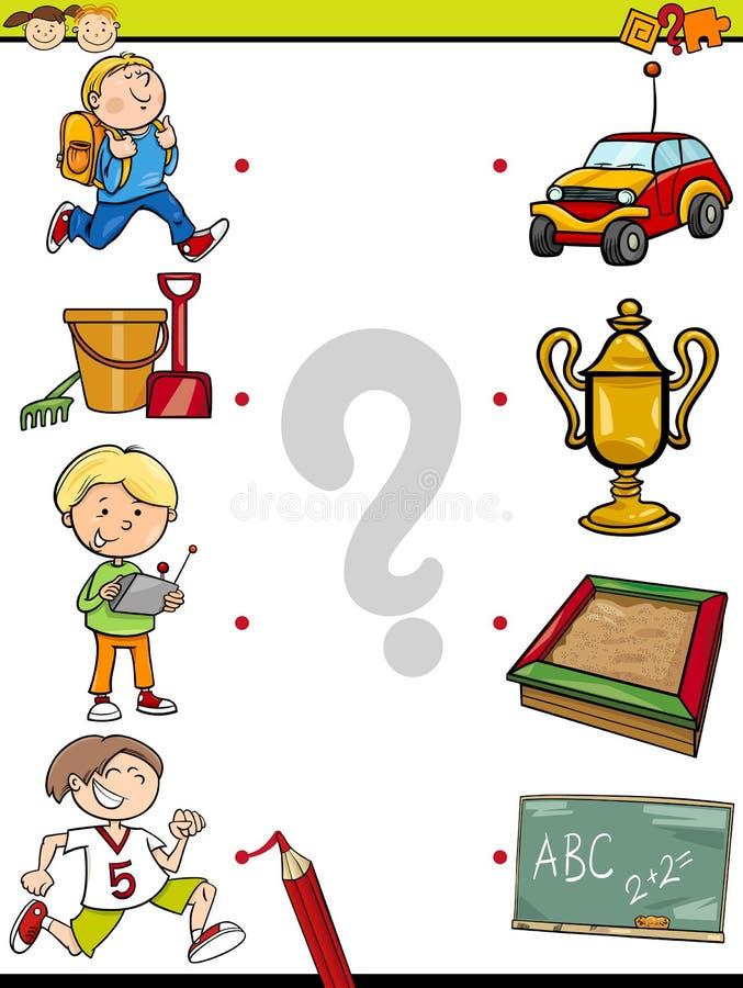 Zapałczana element edukaci gra ilustracja wektor
