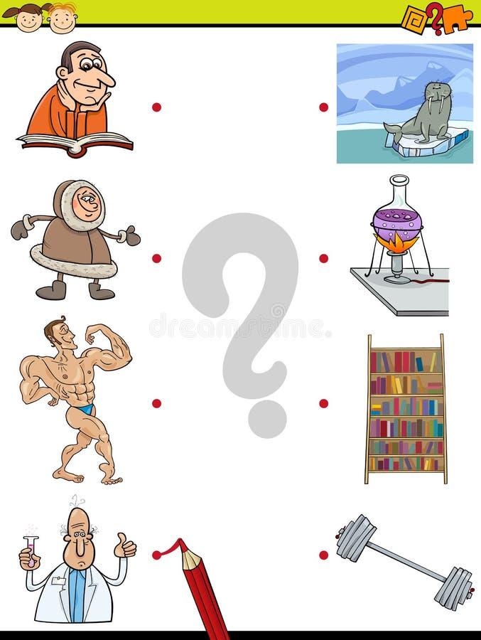 Zapałczana element edukaci gra ilustracji