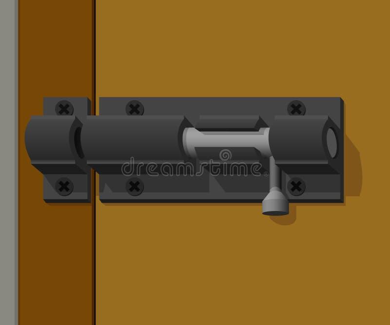 Zapadki drzwi no blokuje royalty ilustracja