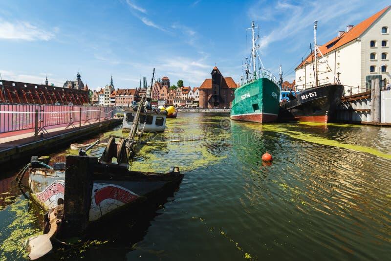 Zapadnięty statek w zatoce Gdański obrazy stock