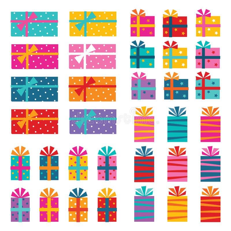 zapakować prezent royalty ilustracja