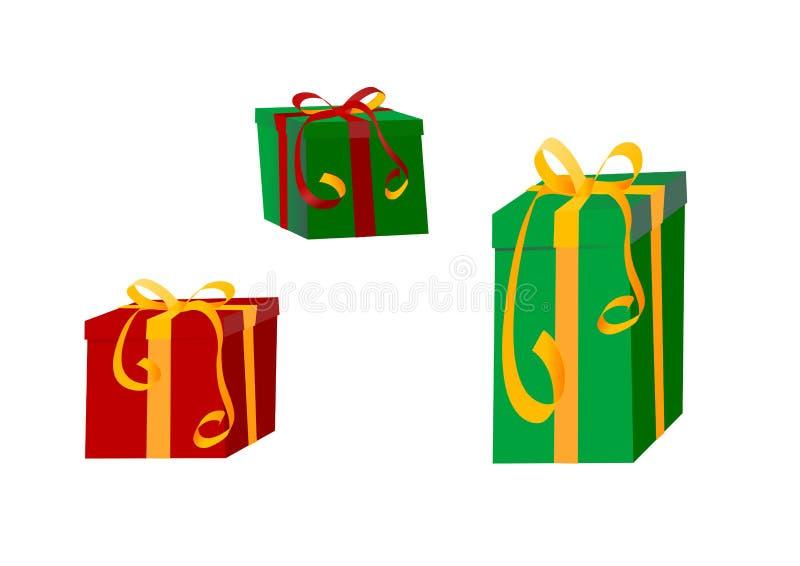 zapakować prezent kolorowe prezent ilustracja wektor
