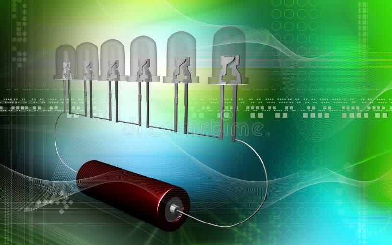 zapalająca żarówki komórka ilustracji