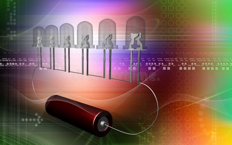 zapalająca żarówki komórka ilustracja wektor