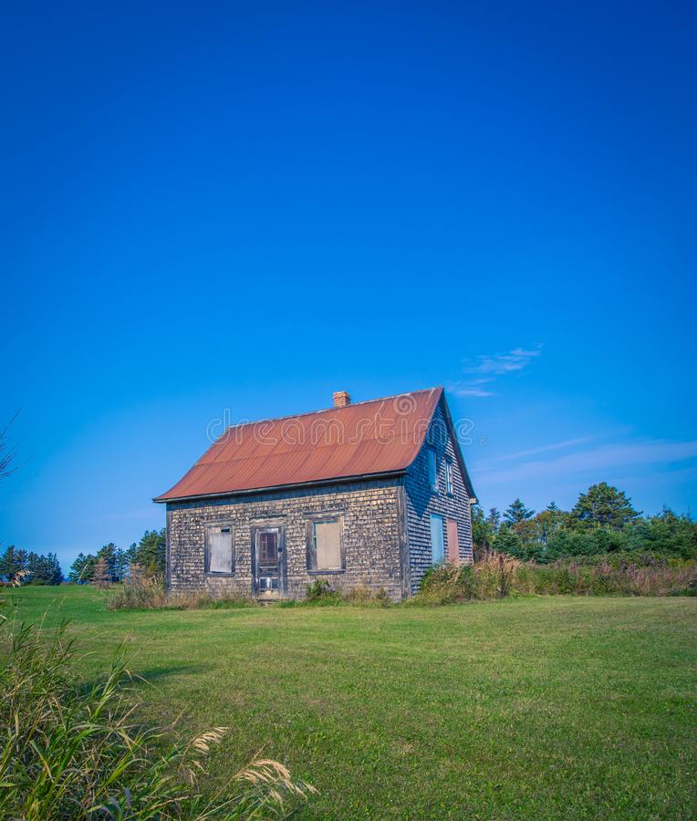 Zapamiętania gospodarstwa rolnego dom Quebec obraz stock