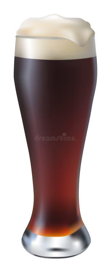 Zaparowywający szkło ciemny piwo royalty ilustracja