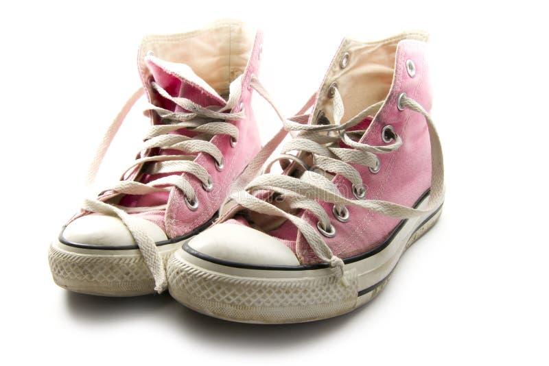 Zapatilla de deporte rosada imagen de archivo libre de regalías