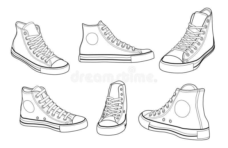 Zapatillas de deporte ilustración del vector