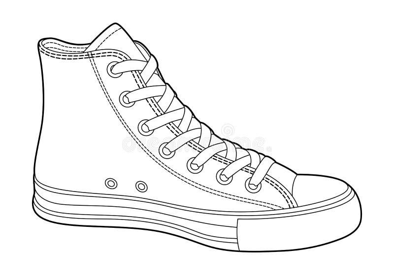 Zapatillas de deporte stock de ilustración