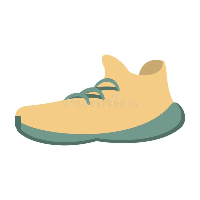 Zapatillas de deporte blancas por vacaciones de verano libre illustration