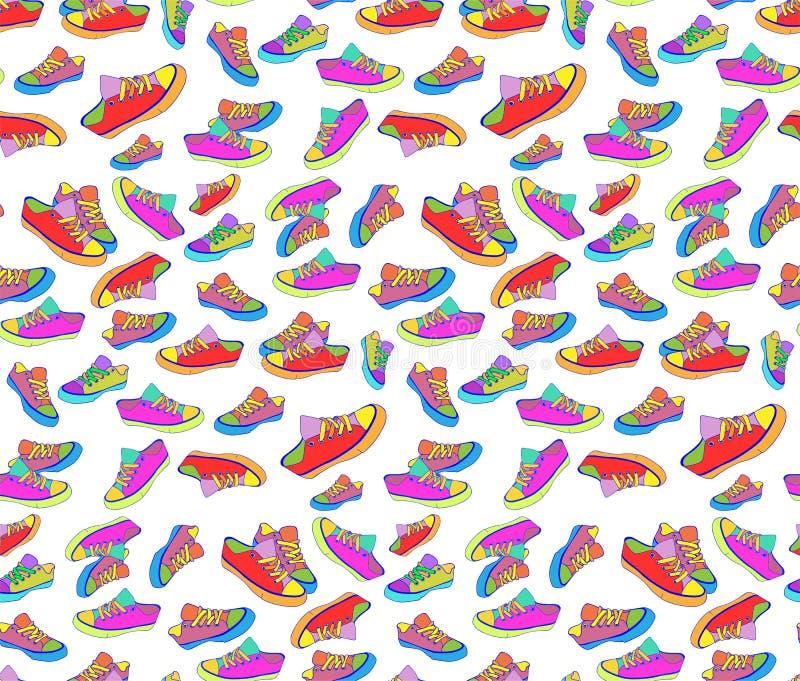 Zapatillas de deporte coloreadas brillantes fotos de archivo