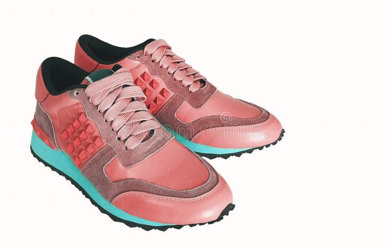Zapatillas de deporte coralinas imagen de archivo libre de regalías