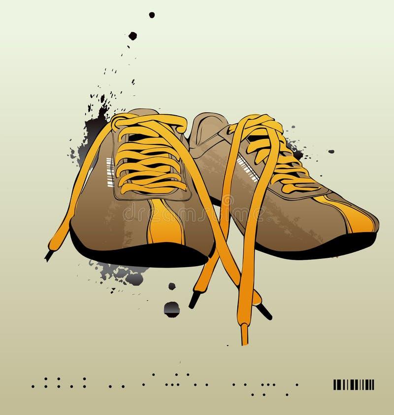 Zapatillas de deporte del vector, gimnasia-zapatos stock de ilustración