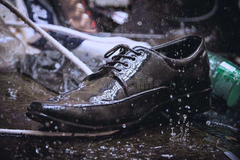 Zapato único crudo imagen de archivo