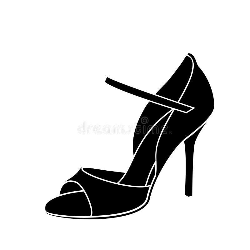 Zapato bosquejado elegante de la mujer s para el baile del tango de Argentina ilustración del vector