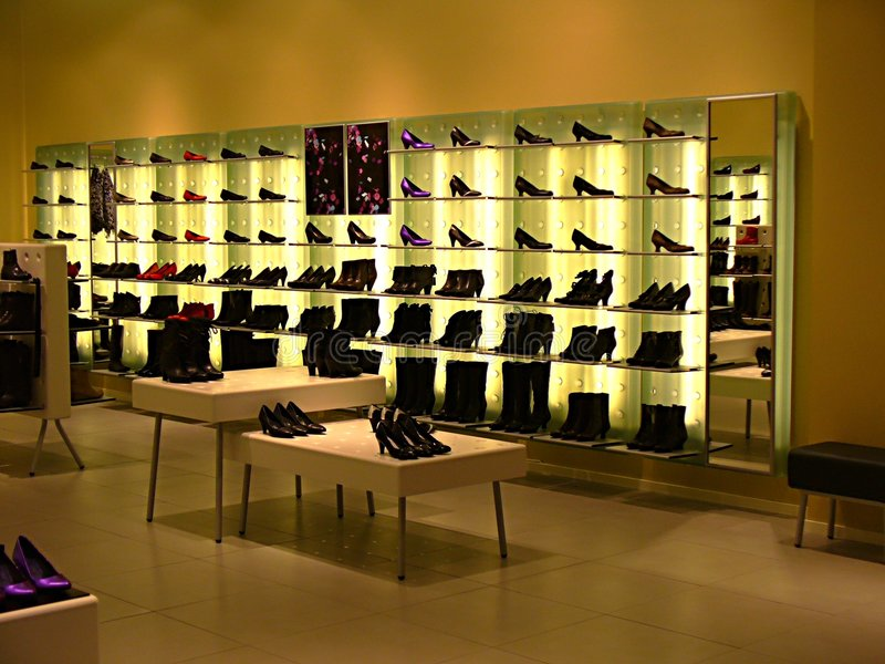 Zapato-boutique imagen de archivo