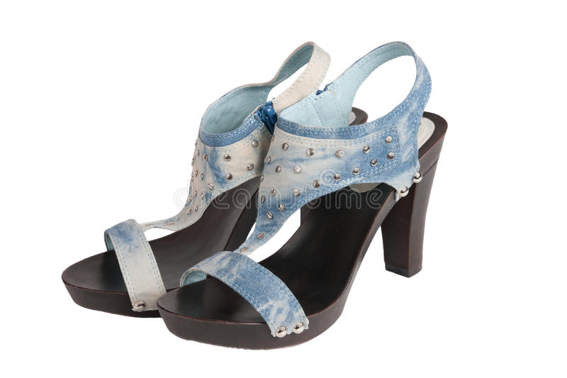 Zapato con estilo aislado en un blanco foto de archivo libre de regalías