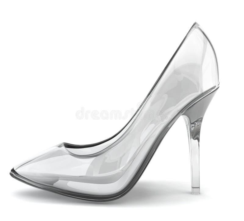 Zapato cristalino ilustración del vector