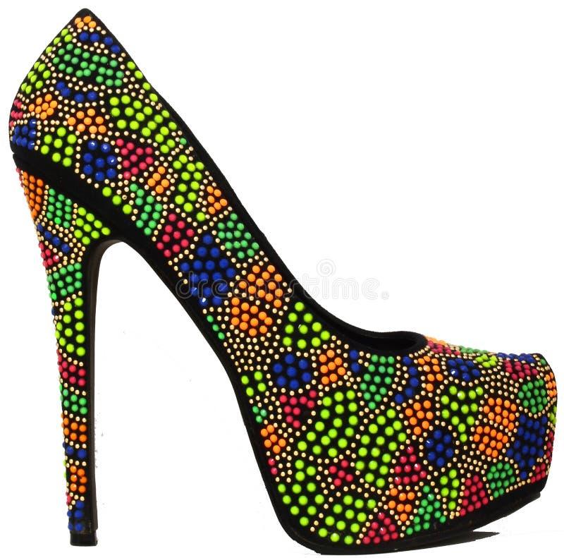 Zapato de Colorfull imágenes de archivo libres de regalías