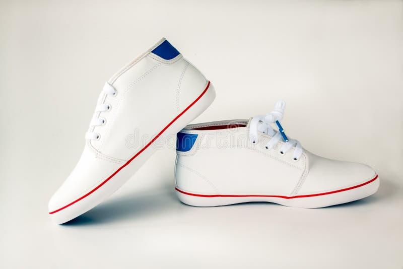 Zapato de cuero blanco fotografía de archivo