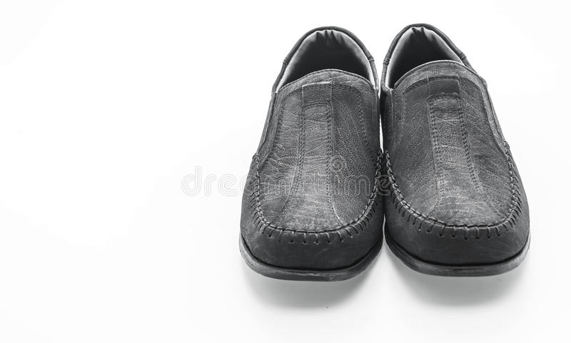 zapato de cuero de los hombres hermosos imagen de archivo libre de regalías
