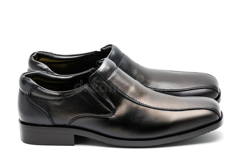Zapato de cuero de los hombres negros imagen de archivo libre de regalías