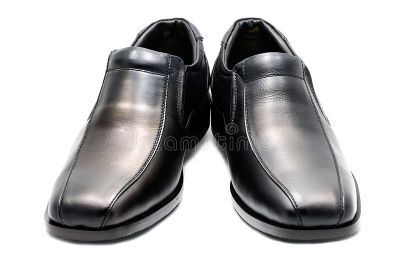 Zapato de cuero de los hombres negros fotografía de archivo