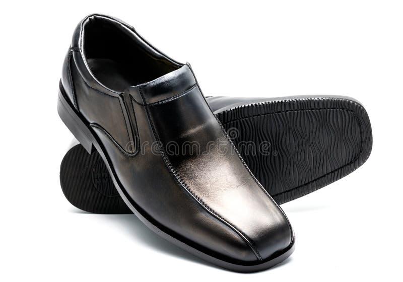 Zapato de cuero de los hombres negros imagen de archivo