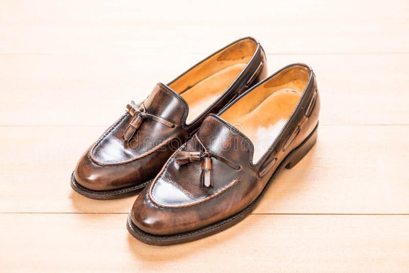 Zapato de cuero de los hombres imagen de archivo libre de regalías