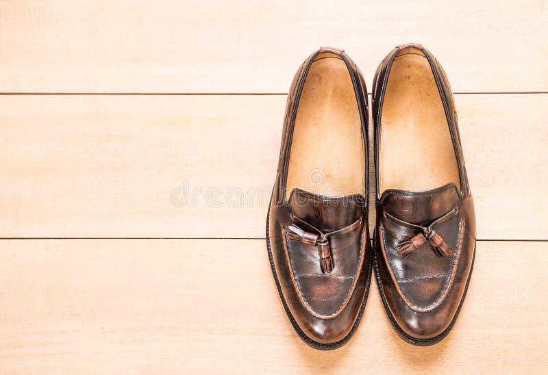 Zapato de cuero de los hombres fotos de archivo