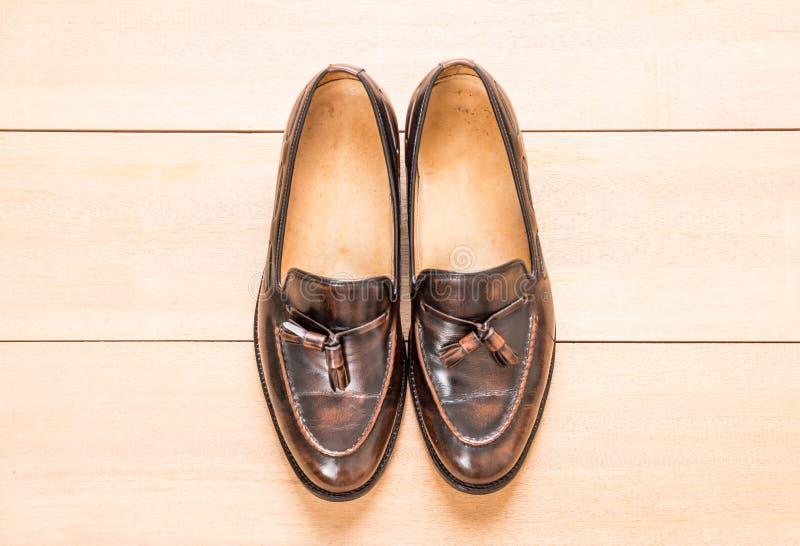 Zapato de cuero de los hombres fotografía de archivo libre de regalías