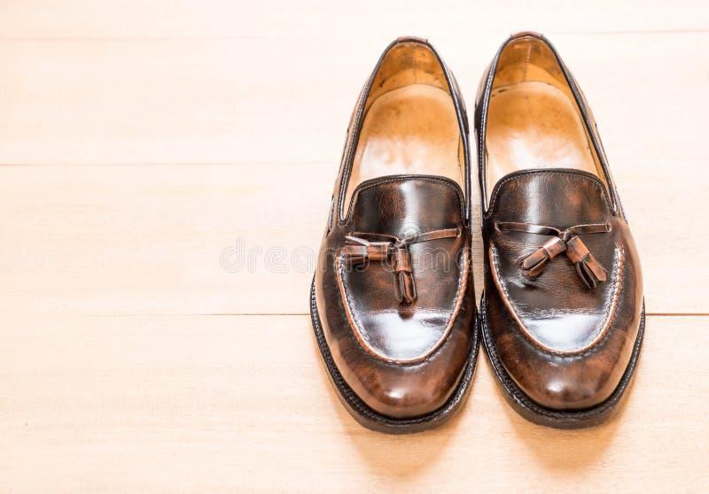 Zapato de cuero de los hombres imagen de archivo