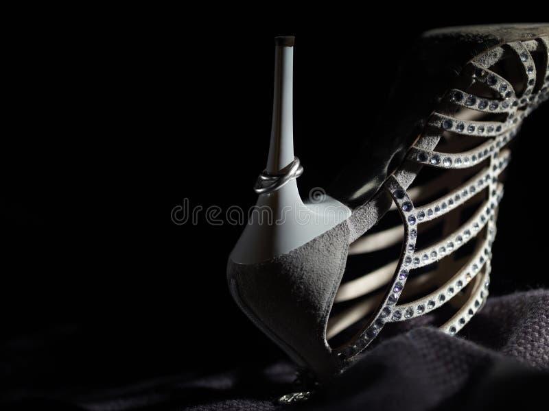 Zapato de la boda imagen de archivo