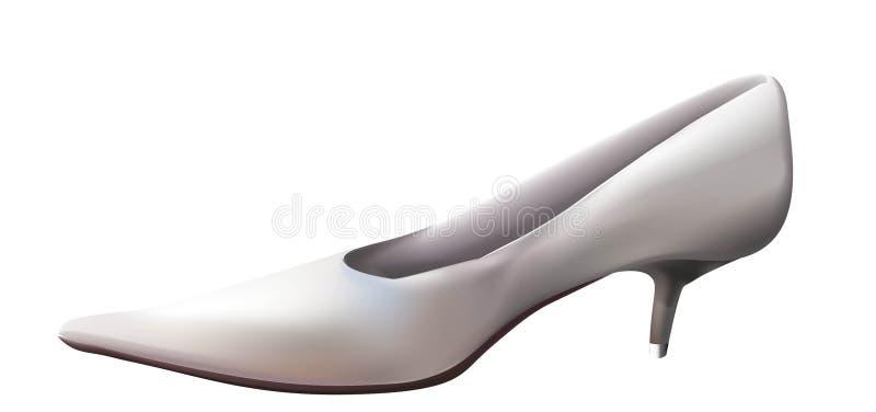 Zapato de la boda fotografía de archivo